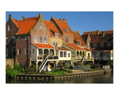 Architecture photo of the Dutch city Enkhuizen. Historic, photography, 4x6, holland,