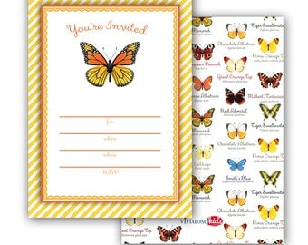 MONARCH BUTTERFLY Invitation
