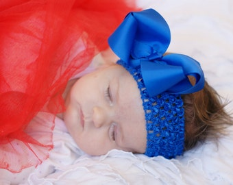 hair bow,royal blue, baby hair bow, infant hair bow,baby headband, toddler hair bow, baby bow,head band,hairbow, boutique hairbow