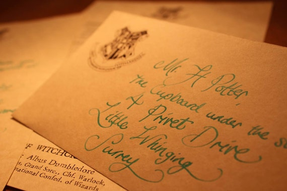 Personalized Handwritten Harry Potter Hogwarts Por