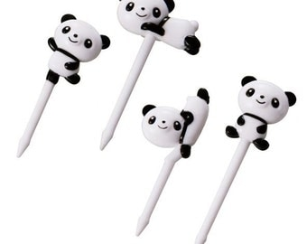 Cute Panda Cupcake Topper & Food Decoration Picks - Mama's Assist by Torune Japan Bento