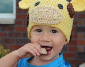Giraffe Hat Crochet - Giraffe Costume - Available in any size