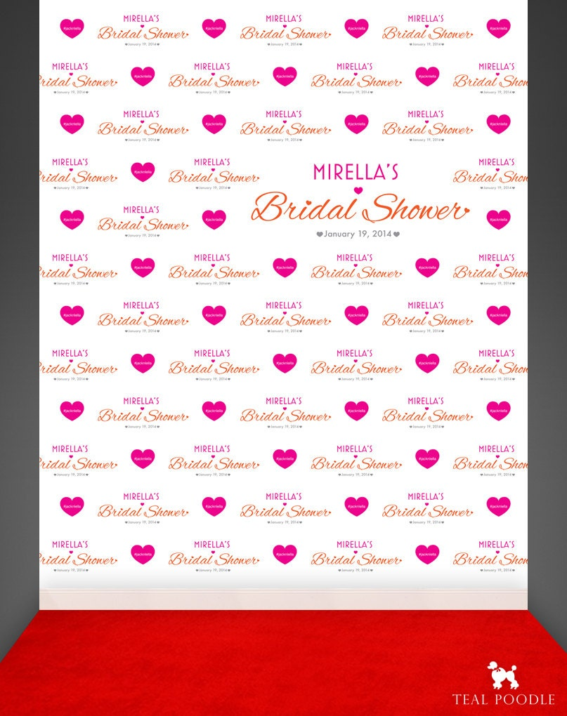Red Carpet Wedding Backdrop Bridal Shower Step And Repeat