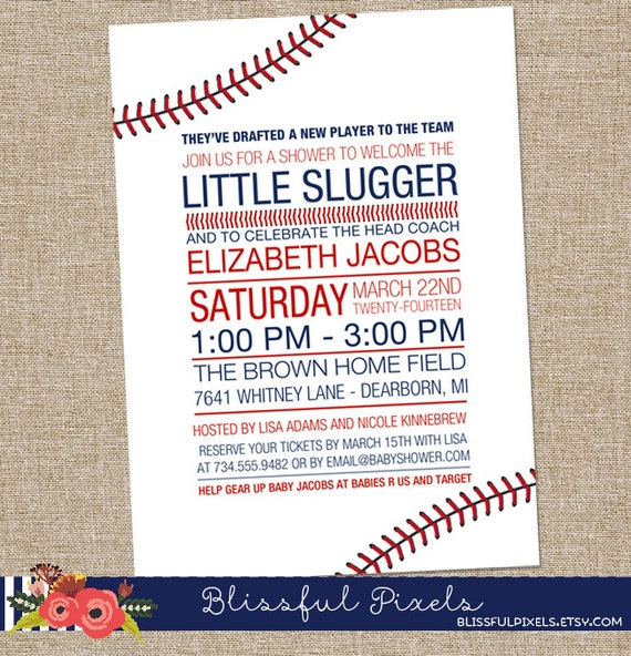 Little Slugger Baby Shower Invitations is beautiful invitation example