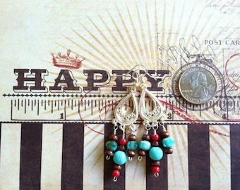 Country Chandelier earring set