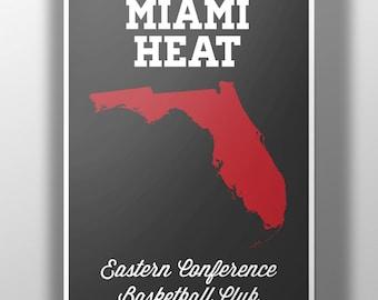 Miami Heat Minimalist Print