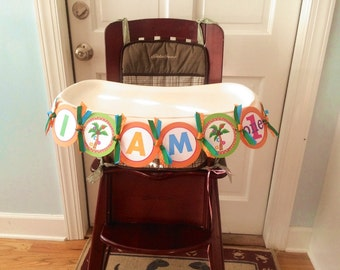 Colorful Alphabet Party High Chair Banner