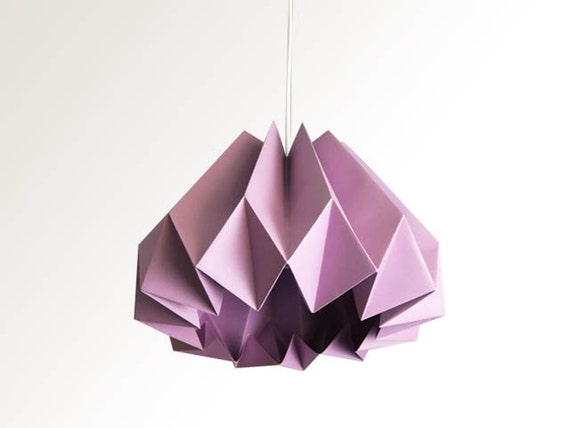 articles similaires citrouille origami papier lampe abat jour prune sur etsy. Black Bedroom Furniture Sets. Home Design Ideas