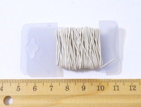 1mm,white elastic,elastic string,durable elastic,nylon covered,high strength- 5 yard/PKG