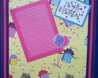 Happy Birthday Scrapbook 12x12 Page
