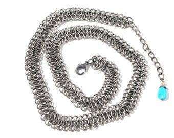 Vintage Silver Chain Fringe Tassle Belt