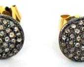 Victorian Estate Style 1.15ct Rose Cut Diamond Antique Look Handmade Earrings Stud