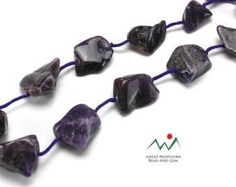 Amethyst Gemstone Necklace, Vintage Necklace,Amethyst Necklace ETS713