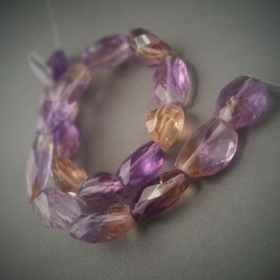 Ametrine Citrine Beads on Etsy