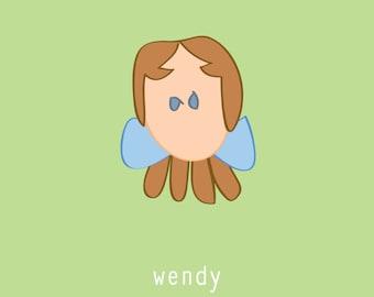 Wendy:  5x7 digital file