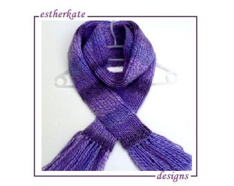KNITTING PATTERN pdf, one and one scarf in rib for child or adult, instant DOWNLOAD