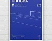 Didier Drogba vs Bayern Munich Giclee Print