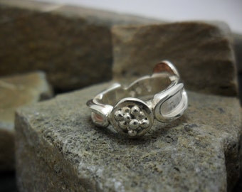 "Ring sterling silver and copper ""variable mood"""