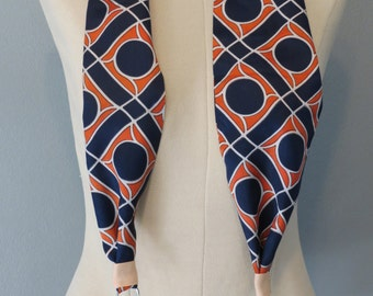 Navy and Coral scarf Camera Strap