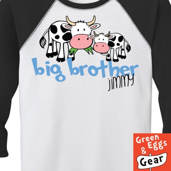 Items similar to farm big brother birth announcement shirt for Big sister birth announcement shirts