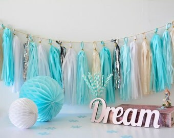 Frozen theme Tassel Garland - Frozen Birthday , Party Decor, Birthday Party