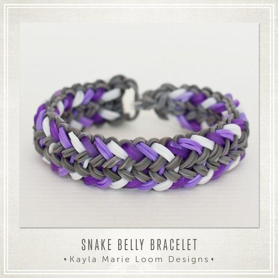 items similar to rainbow loom bracelet mini snake belly on