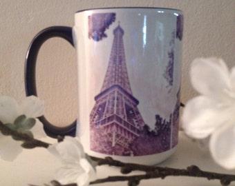 Paris Eiffel Tower mug - made to order
