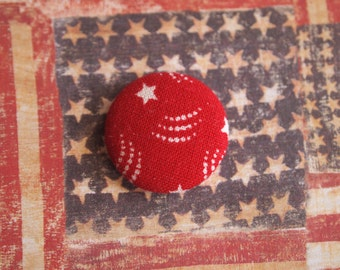 Red and white fireworks Independence Day 4th fourth of July fabric covered buttons (size 60, 40, 32, 20, or 18)