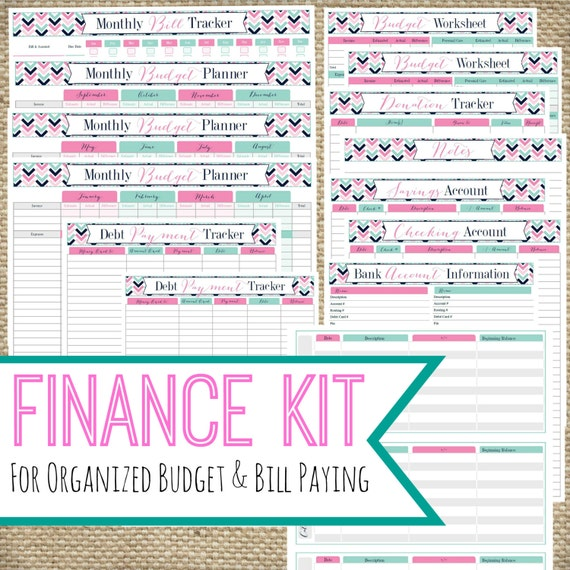 PRINTABLE FINANCE KIT Instant Download pdf Bill Pay