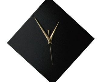 CLC Contemporary Black Diamond Wall Clock 20cm