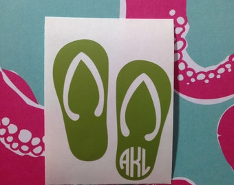 Flip Flop Monogram Decal