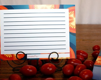 4x6 Garden Tomatoes Recipe Cards (Package of 25)