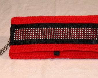 Xmas Sale 20 % off!! Envelope Style Crochet Clutch Bag