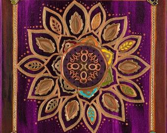 """Violet/Crown Chakra Fine Art Print: 24""""x24"""""""
