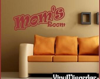 Moms Room - Vinyl Wall Decal - Wall Quotes - Vinyl Sticker - Ss003MomsroomvET