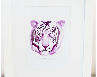 Water colour Tiger Print Magenta