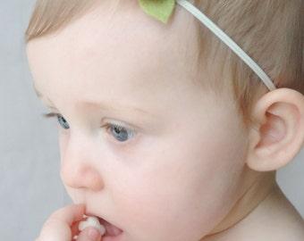 Choose YOUR color - Baby Flower Headband - Felt Flower Headband, Felt Baby Headband, Newborn Headband, Baby Girl Headband