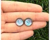 Sea Siren Earrings // Antique Bronze Stud Earrings
