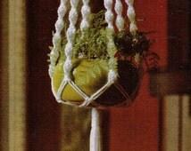 macrame hanging basket instructions