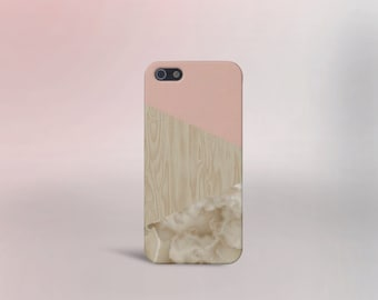 Pink Cream Marble Wood Phone Case,iPhone 7, iPhone 7 Plus, Protective iPhone Case, Galaxy s8, Samsung Galaxy Case, Note 5, CASE ESCAPE