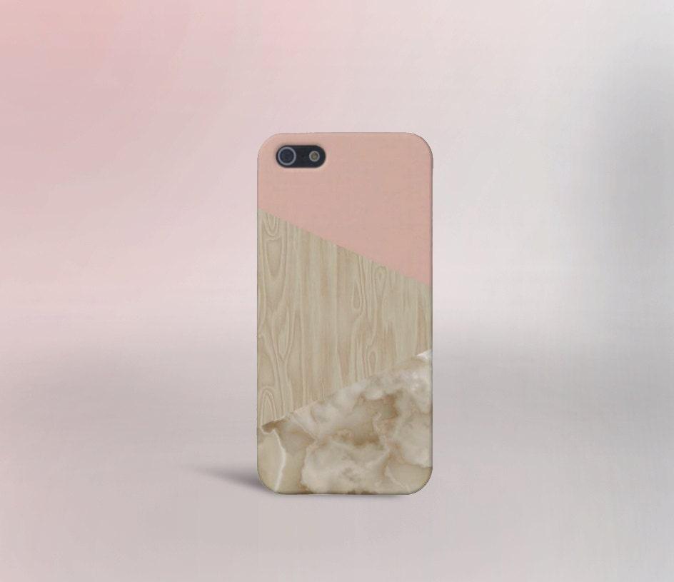 Pink Cream Marble Wood Phone Caseiphone X Iphone 8 Plus