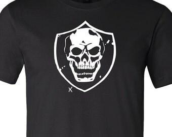 skull shirt raiders skull shield