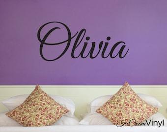 Name Wall Decal Personalized Custom Monogram Vinyl Nursery Kids Room Girls Room Wall Art