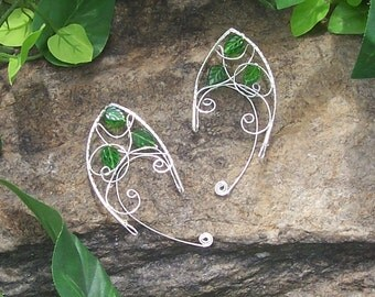 Elf Ear Cuffs - Forest Elune - Elven Leaves - Elven Jewelry - Made to Order
