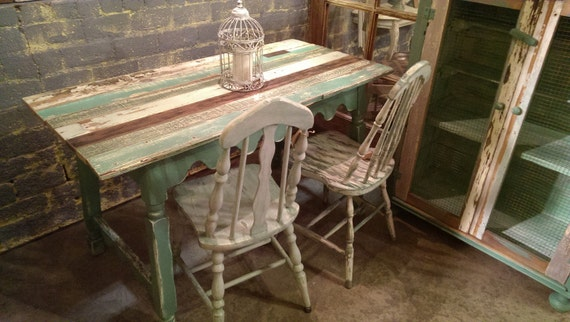 Items similar to Reclaimed wood small kitchen farm table on Etsy