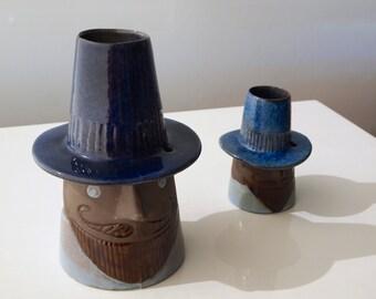 Two Vases, 'Gentlemen' by Elsi Bourelius for Jie Gantofta Sweden. 1960's