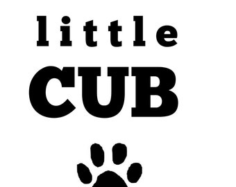 Mama's Little Cub Nursery Digital Print 8x10 Instant Download