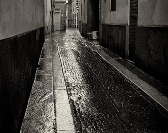 Travel Photography, Urban, Italy, Parma, Fine Art Black and White Photography, Architecture, Travel, Home Decor, Wall Art, Kitchen Decor