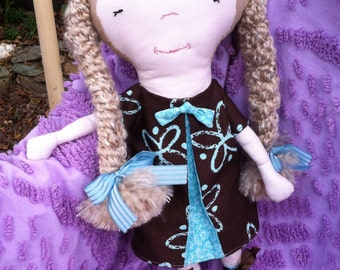 Handmade, child friendly 18 inch rag doll