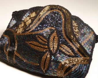 VINTAGE BEADED DESTINEE evening bag.  Beaded front and back.  Exquisite!!  Design work by Destinee.